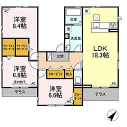 D-room南福岡 1階3LDKの間取り