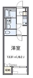 名鉄名古屋本線 男川駅 徒歩9分の賃貸アパート 2階1Kの間取り