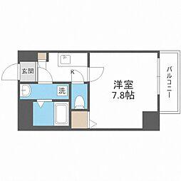 Osaka Metro御堂筋線 中津駅 徒歩13分の賃貸マンション 4階1Kの間取り