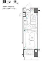JR京浜東北・根岸線 関内駅 徒歩3分の賃貸マンション 11階1Kの間取り