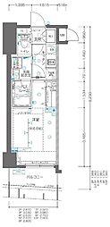 JR京浜東北・根岸線 関内駅 徒歩3分の賃貸マンション 8階1Kの間取り