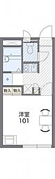 東武日光線 幸手駅 徒歩16分の賃貸アパート 2階1Kの間取り