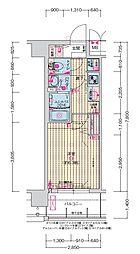 JR大阪環状線 森ノ宮駅 徒歩5分の賃貸マンション 3階1Kの間取り