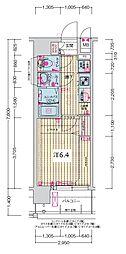 JR大阪環状線 森ノ宮駅 徒歩5分の賃貸マンション 5階1Kの間取り