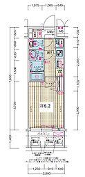JR大阪環状線 森ノ宮駅 徒歩5分の賃貸マンション 8階1Kの間取り