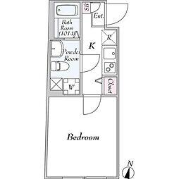 東急田園都市線 駒沢大学駅 徒歩11分の賃貸マンション 3階1Kの間取り