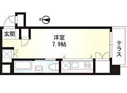 nest 5階ワンルームの間取り
