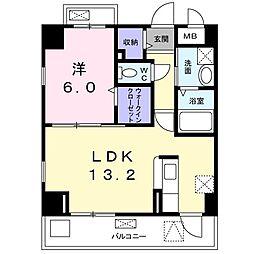 阪急京都本線 水無瀬駅 徒歩6分の賃貸マンション 5階1LDKの間取り