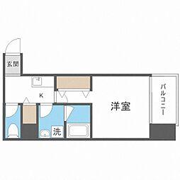 TOYOTOMi STAY Premium梅田西II 6階1Kの間取り