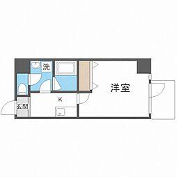 TOYOTOMi STAY Premium梅田西II 8階1Kの間取り
