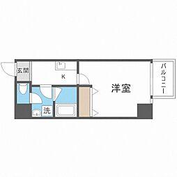 TOYOTOMi STAY Premium梅田西II 4階1Kの間取り