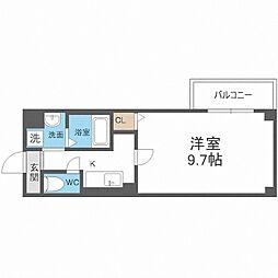 近鉄南大阪線 河堀口駅 徒歩8分の賃貸マンション 4階1Kの間取り