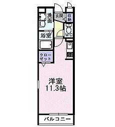 アンソレイエ I 2階1Kの間取り