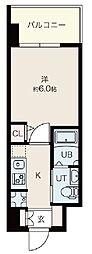 Osaka Metro御堂筋線 昭和町駅 徒歩12分の賃貸マンション 10階1Kの間取り