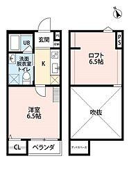 南海線 湊駅 徒歩3分の賃貸アパート 1階1Kの間取り