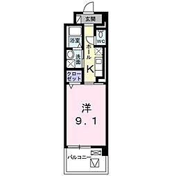 JR牟岐線 二軒屋駅 徒歩17分の賃貸マンション 3階1Kの間取り