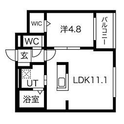 仮)GRAN-住吉1丁目MS 4階1LDKの間取り