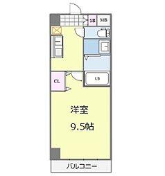 Osaka Metro御堂筋線 なんば駅 徒歩13分の賃貸マンション 2階1Kの間取り