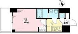 エスリード神戸ハーバークロス 4階1Kの間取り