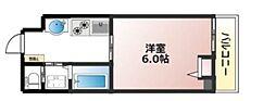 阪急神戸本線 春日野道駅 徒歩5分の賃貸マンション 2階1Kの間取り