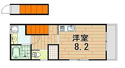 (仮)五日市中央1丁目アパート 2階ワンルームの間取り