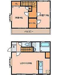 アヴァンセタウンC棟(上飯田) 1階2LDKの間取り