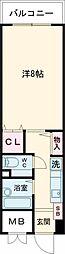 クラン東加古川 3階1Kの間取り