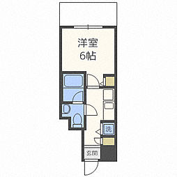 Osaka Metro千日前線 阿波座駅 徒歩7分の賃貸マンション 11階1Kの間取り