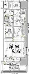 JR山陽本線 兵庫駅 徒歩5分の賃貸マンション 4階1Kの間取り