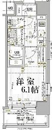 JR山陽本線 兵庫駅 徒歩5分の賃貸マンション 6階1Kの間取り