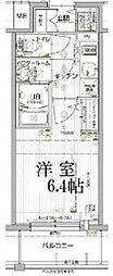 JR山陽本線 兵庫駅 徒歩5分の賃貸マンション 11階1Kの間取り