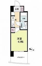 阪神本線 春日野道駅 徒歩6分の賃貸マンション 3階1Kの間取り