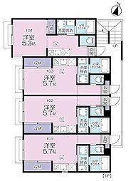 JR京浜東北・根岸線 大宮駅 徒歩11分の賃貸アパート 1階ワンルームの間取り