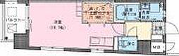 Riviere Champ 宮田町 3階ワンルームの間取り