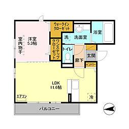 JR京浜東北・根岸線 大宮駅 徒歩29分の賃貸アパート 2階1LDKの間取り