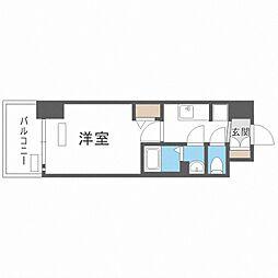 Osaka Metro中央線 九条駅 徒歩4分の賃貸マンション 13階1Kの間取り