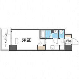 Osaka Metro中央線 九条駅 徒歩4分の賃貸マンション 14階1Kの間取り