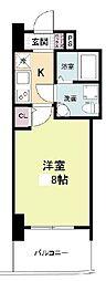セレニテ桜川駅前プリエ 11階1Kの間取り