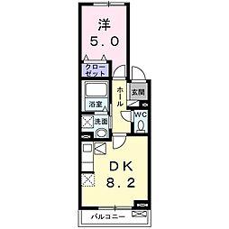ソノ・フェリーチェ 1階1DKの間取り