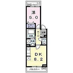ソノ・フェリーチェ 3階1DKの間取り