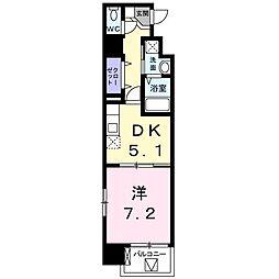 ベーシック・グローブ 9階1DKの間取り