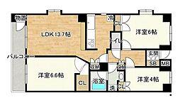 ガーデンスクエア泉 1階3LDKの間取り