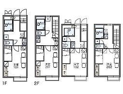 JR中央線 八王子駅 バス20分 左入下車 徒歩6分の賃貸アパート 1階1Kの間取り