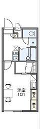 JR中央線 高尾駅 バス12分 鍛冶屋敷下車 徒歩2分の賃貸マンション 1階1Kの間取り