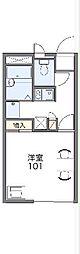 JR中央線 八王子駅 バス27分 滝山城址下下車 徒歩5分の賃貸アパート 2階1Kの間取り