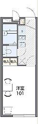 JR横浜線 相原駅 バス8分 境橋下車 徒歩7分の賃貸アパート 2階1Kの間取り
