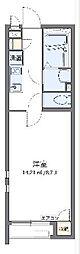 西武拝島線 東大和市駅 徒歩12分の賃貸アパート 2階1Kの間取り