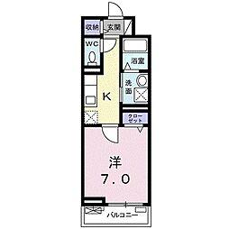 JR埼京線 中浦和駅 徒歩6分の賃貸アパート 2階1Kの間取り