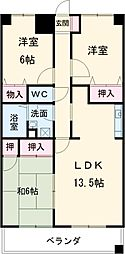 ルミエールII 7階3LDKの間取り