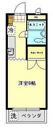 JR青梅線 青梅駅 徒歩19分の賃貸マンション 2階1Kの間取り